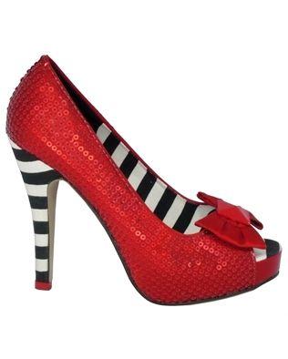 Iron Fist Ruby Slipper Platform Shoes Red UK Size 3-9