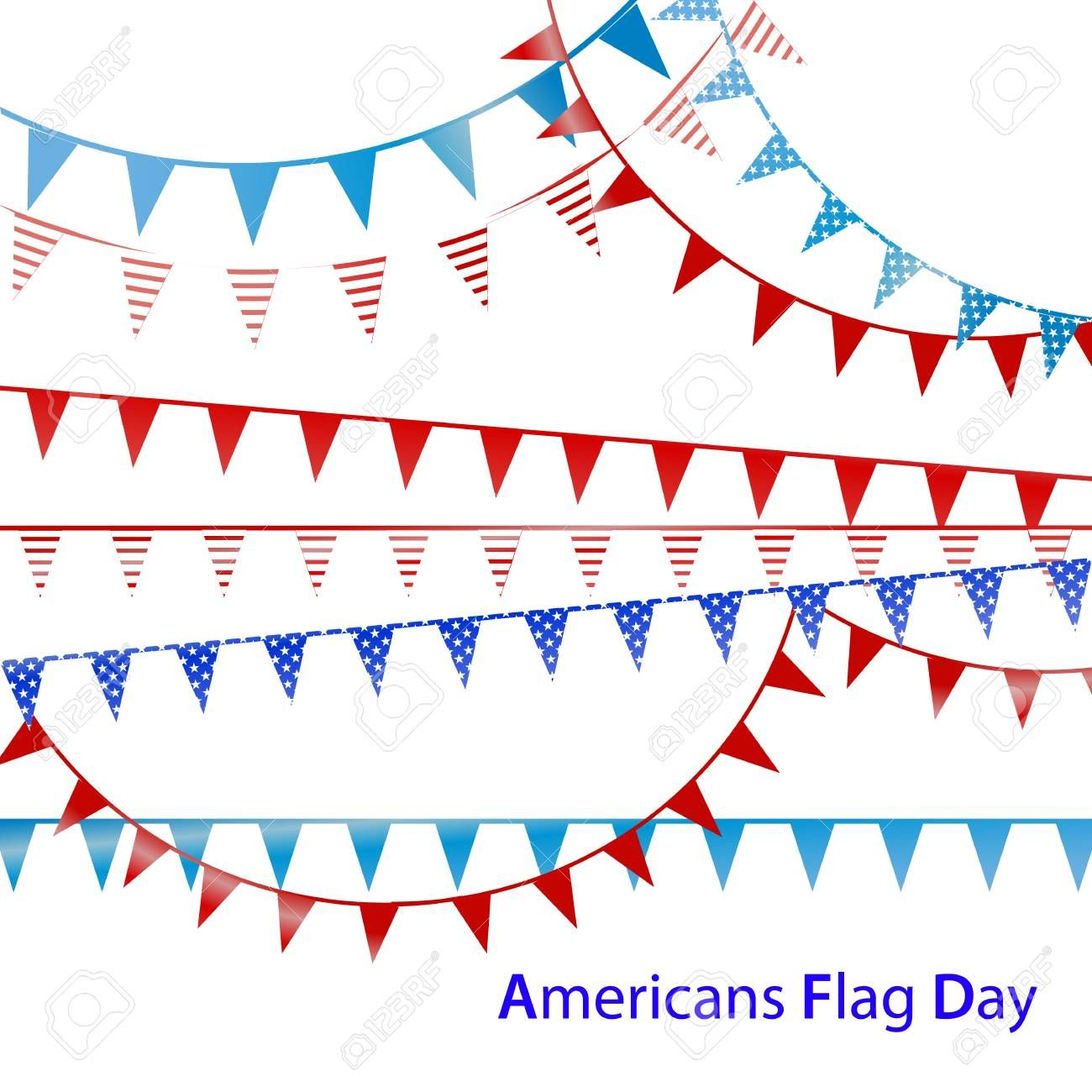 Holiday Flags On A White Background Illustration Vector For Your Design Illustration Affiliate White Fl Holiday Flag American Flag Illustration Design