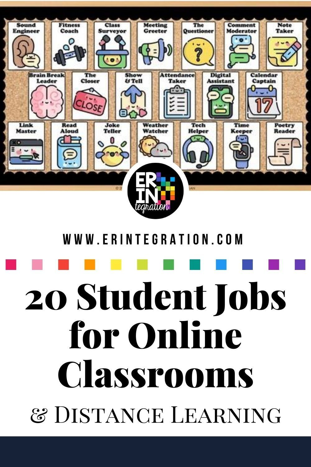Virtual Jobs for Online Classrooms and Distance Learning