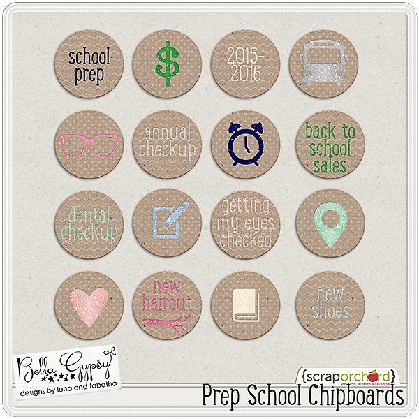 Prep School Chipboards by Bella Gypsy Designs