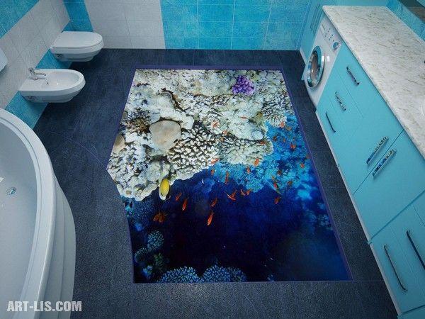 Idee für Badezimmer-Bodenbelag