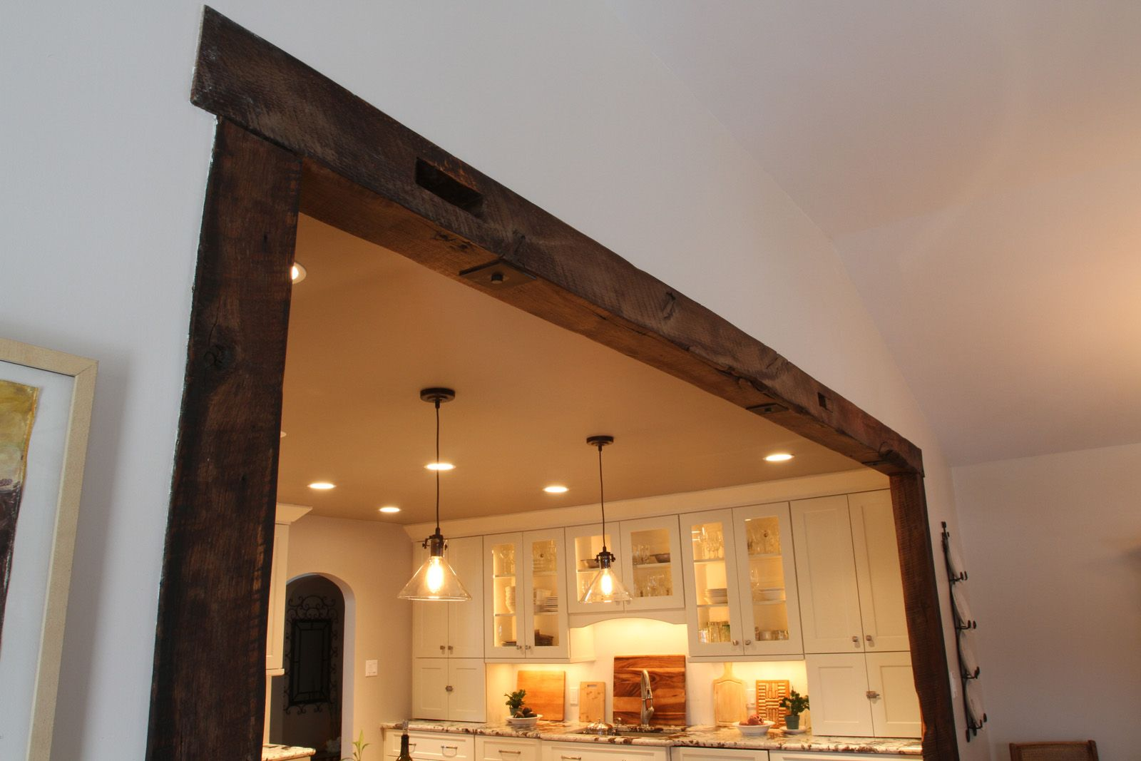 Barn Beam Archway English Farmhouse Kitchen Pinterest