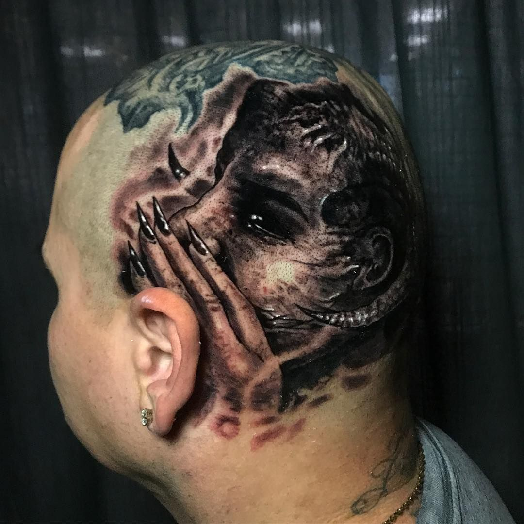 Horror Realistic Tattoos By Danny Lepore Black And Grey Tattoos