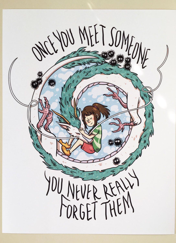 Studio Ghibli Print Spirited Away by StrangeTeeth on