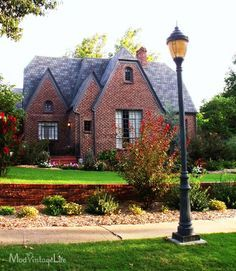 Love This Red Brick And Grayish Roof Color Combination