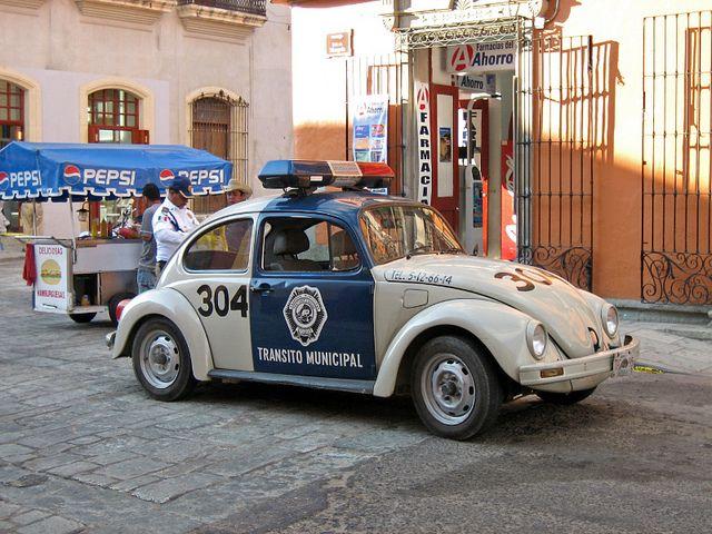 Mexican Police Beetle Police Cars Classic Volkswagen Car Volkswagen