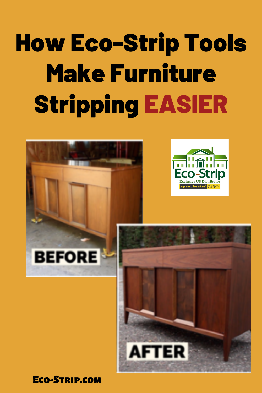When done correctly, refinishing furniture can restore it to its original beauty and give new life to older pieces. One of the main reasons people choose to refinish furniture is to preserve the value of their investment and extent its life. Refinishing allows you to update the style of older pieces yet keep the high-quality wood and unique, old hardware not commonly found in newer, mass-produced furniture.  #furniturestripping #paintremoval #eco_strip #speedheater #furniturerestoration