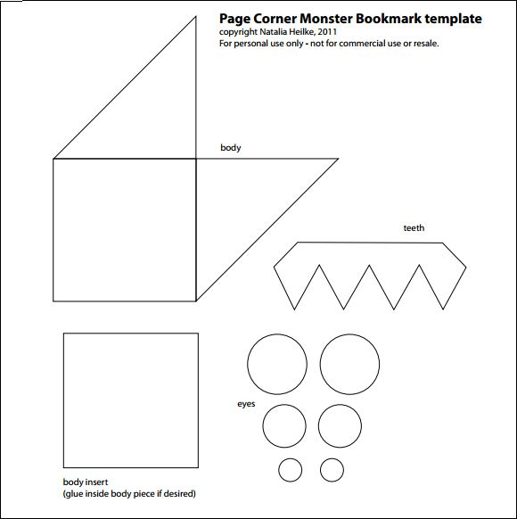 It's just a photo of Corner Bookmark Template Printable with pdf