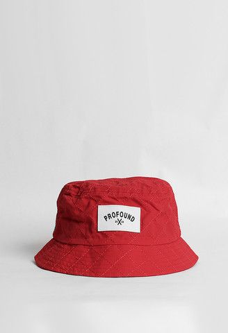 42b6d3d6a08 Profound Aesthetic Quilted Nylon Bucket Hat in Red http   profoundco.com