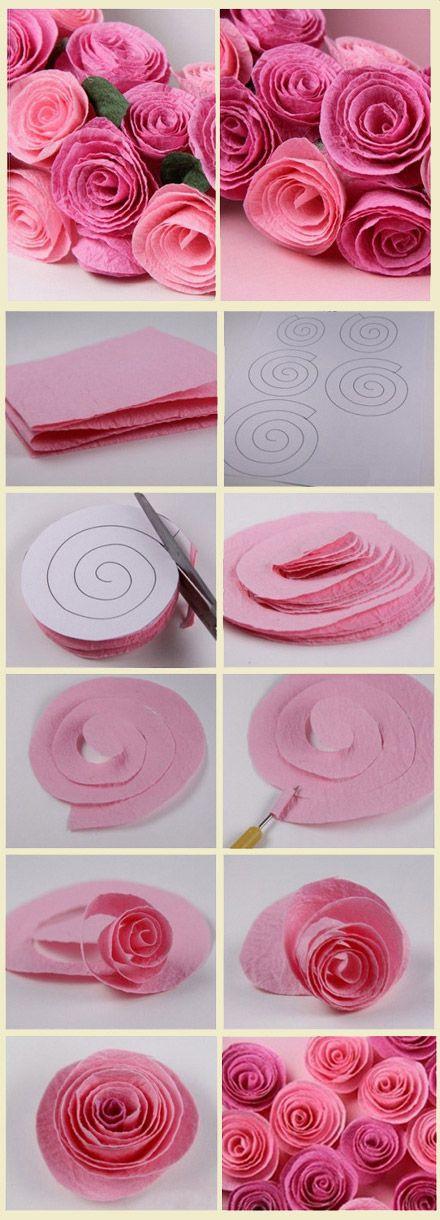 Arreglos con flores de papel crepé | Tips de Madre®