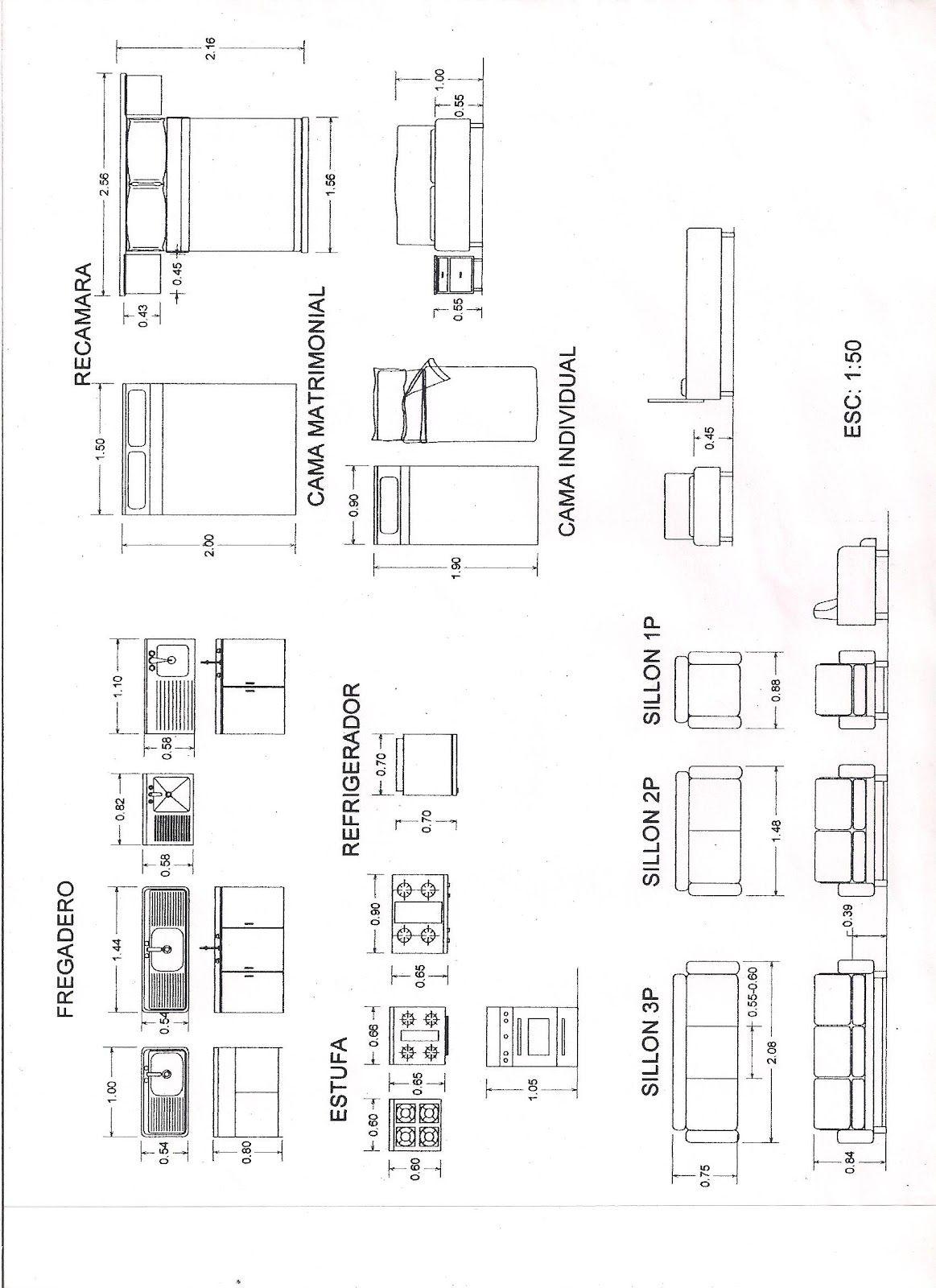 Medidas Estandar De Un Mueble De Cocina Planos De Arquitectura
