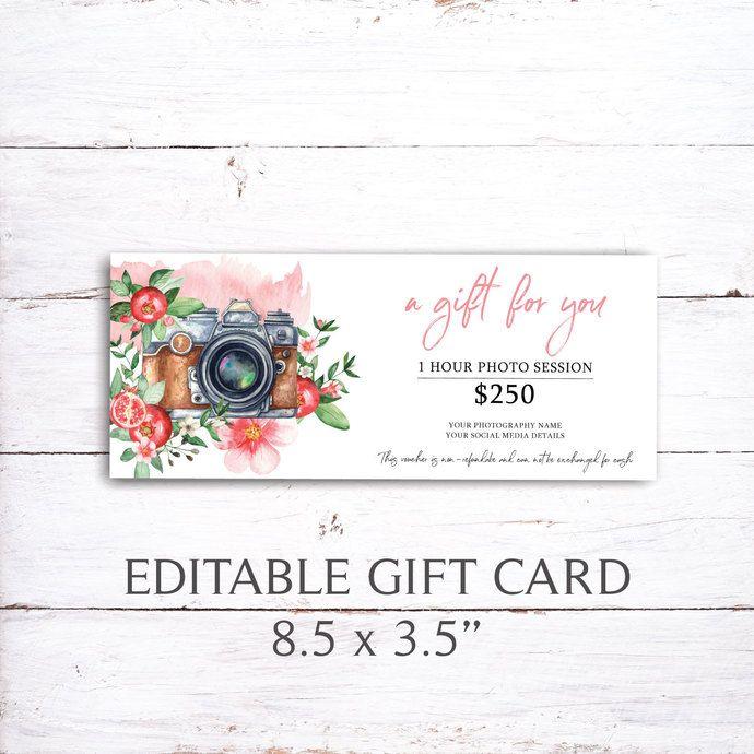 Pin On Editable Gift Card