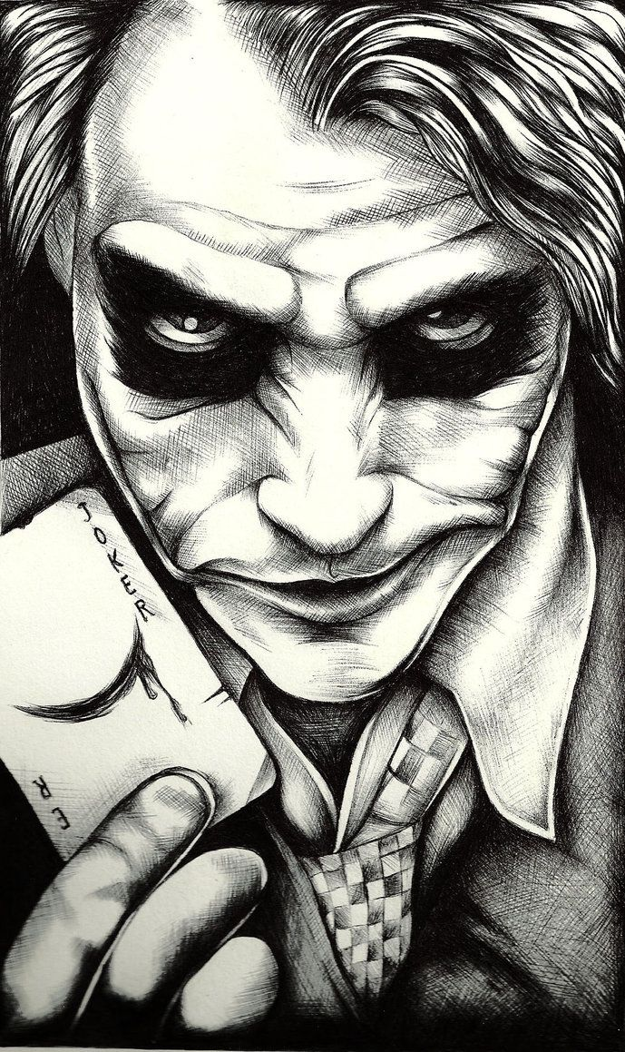 The Joker By Tyller16 Deviantart Com On Deviantart Joker Sketch Joker Face Tattoo Joker Artwork Joker tattoo pics hd