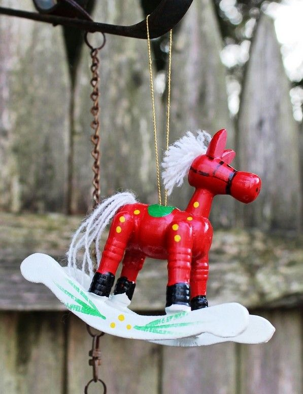 2013 red rocking horse christmas ornaments handmade christmas ornaments 2013 christmas tree decorations - Horse Christmas Decorations