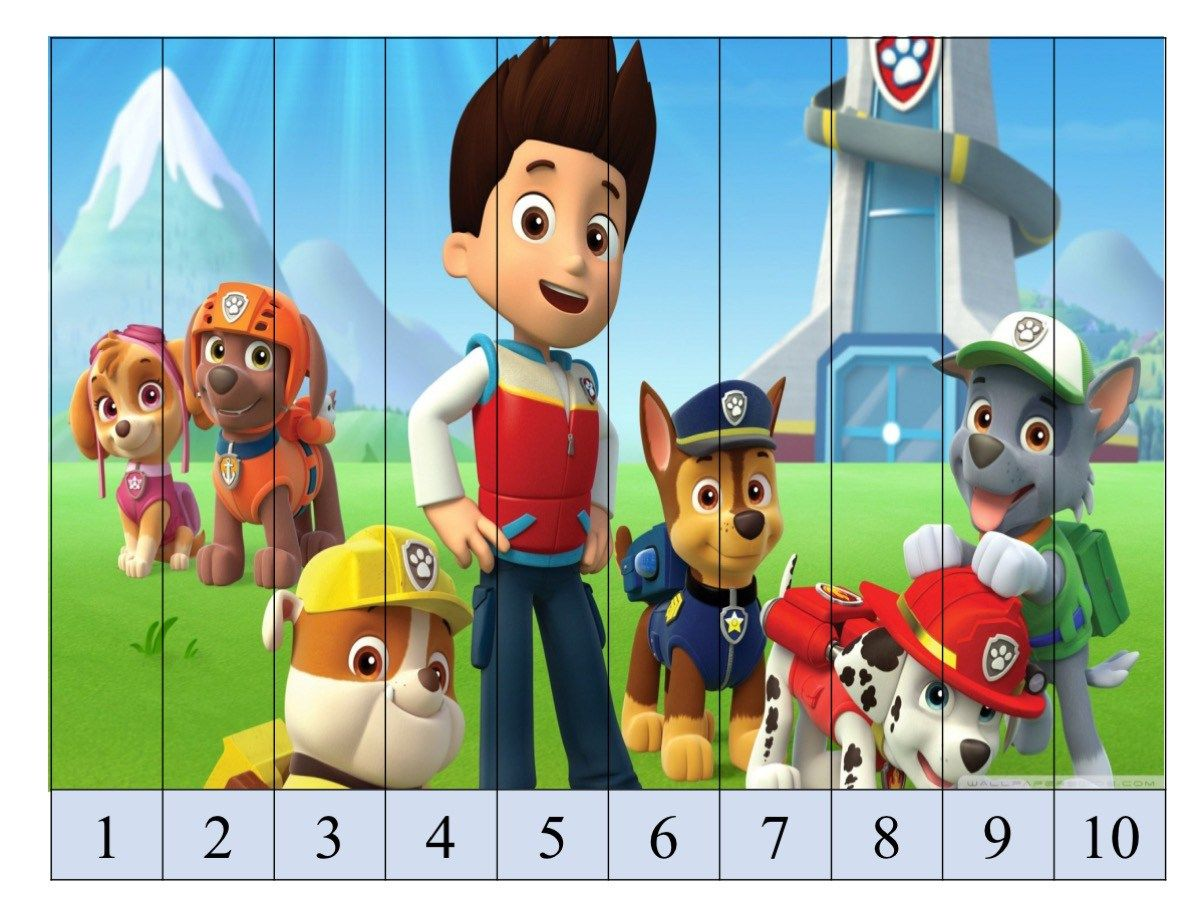 Puzzle De Numeros Patrulla Canina Con Superimagenes12