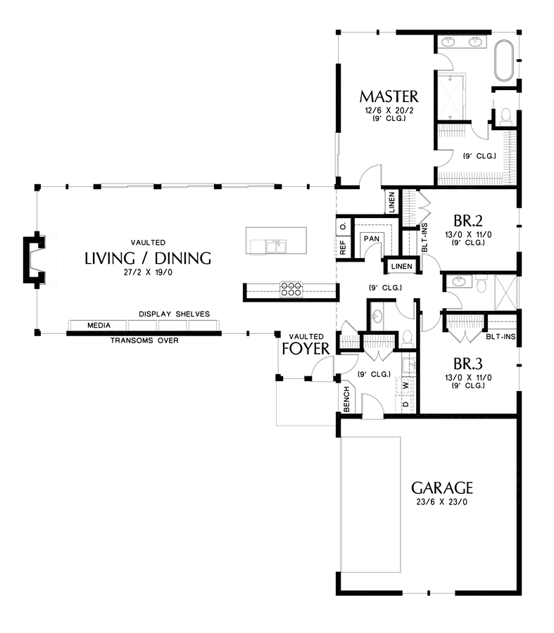 Image For Delores Great Entertaining Space With Connection To Outdoors Main Floor Plan Contemporary House Plans Single Storey House Plans Floor Plan Design