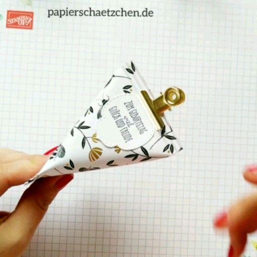 Photo of Stampin' Up! Sour Cream Box basteln Anleitung – mit Paper Crimper