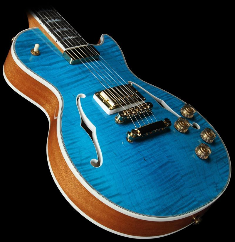 Gibson Les Paul Supreme Electric Guitar Ocean Water Perimeter