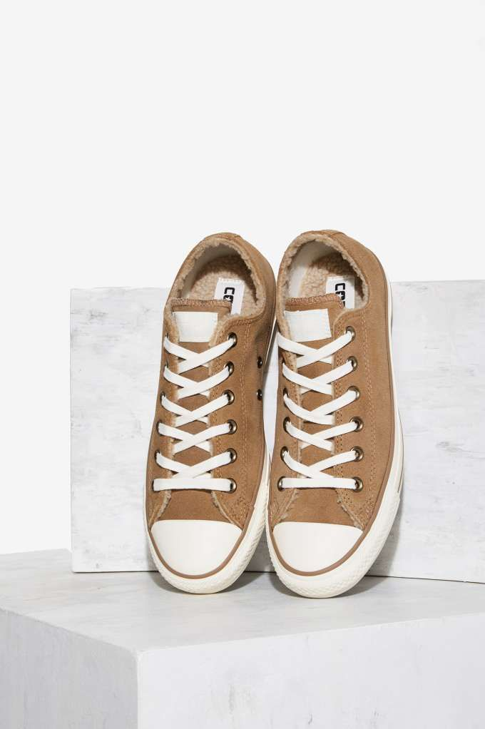 ca10c30efa2d Converse Chuck Taylor All Star Suede and Faux Shearling Sneaker - Sand Dune
