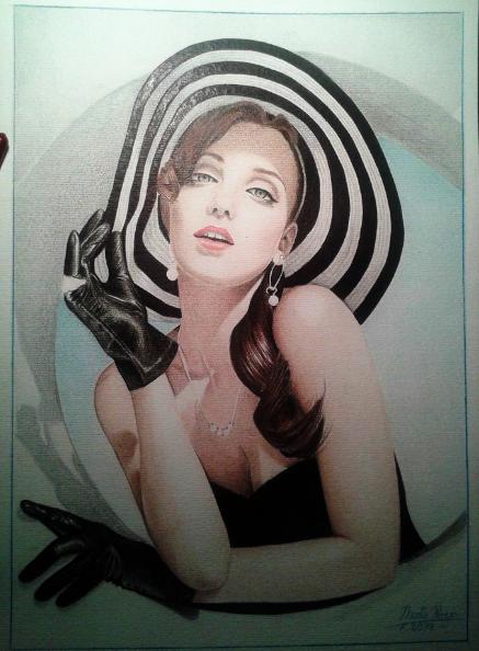 Chica Sombrero De Rayas by Raspberryan.deviantart.com on @deviantART