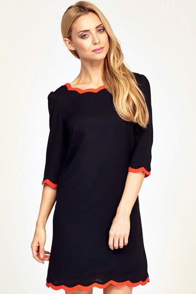 SS14 Mila Dress - Black/Red - Sugarhill Boutique