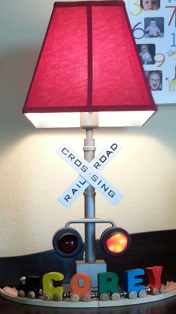 Name Train And Railroad Crossing Lamp From Pottery Barn