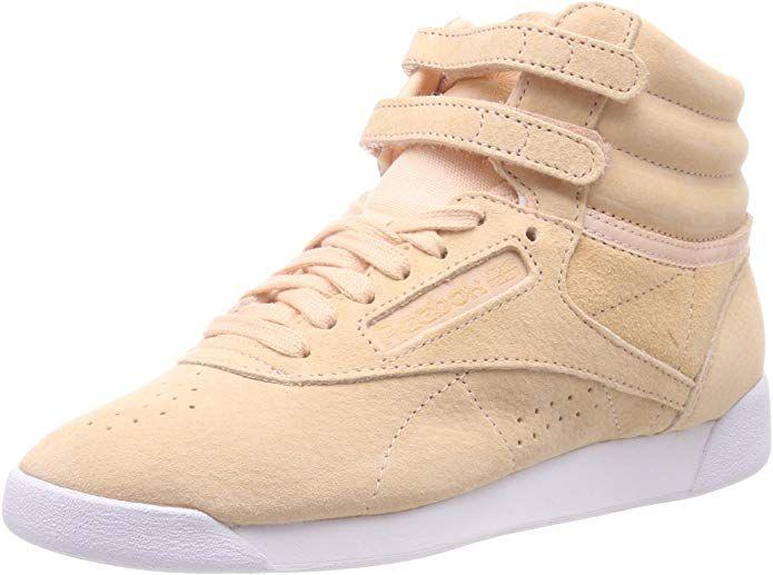 Reebok Freestyle Hi Sneakers High Top Damen Schuhe Hellbraun