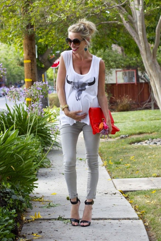 Third trimester #maternity style (with AG Secret Fit Belly jeans ...
