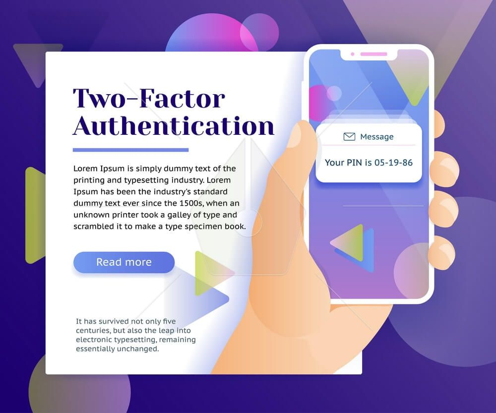 Two factor authentication web banner concept theDesign