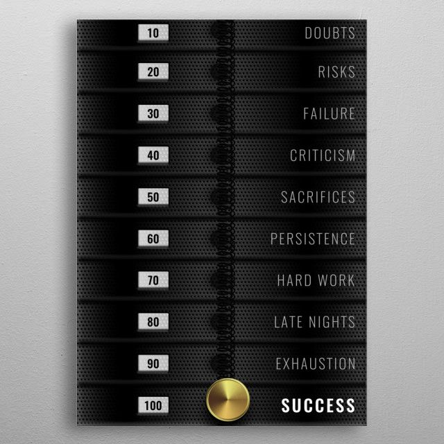 Motivational Quotes - Metal poster