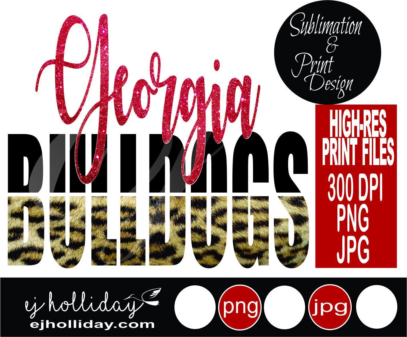 Bulldogs Leopard Print 19 Digital Print Design PNG