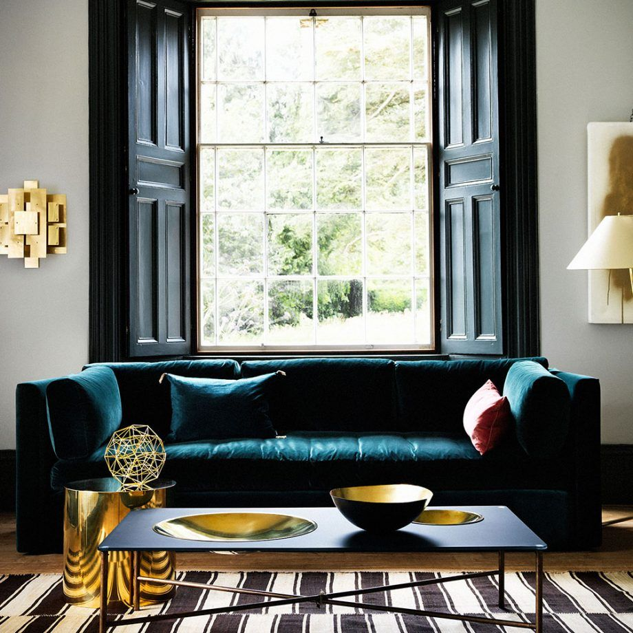 Enjoy Dramatic Design At Home By Decorating With Darker Colours Blue Sofas Living Room Teal Living Rooms Teal Living Room Decor