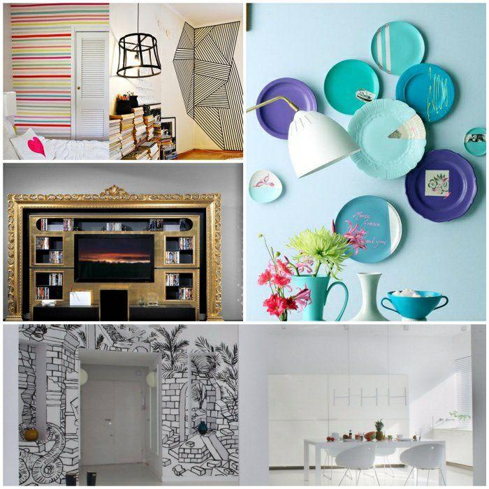 Wandgestaltung fürs Wohnzimmer - 36 kreative und ideenreiche