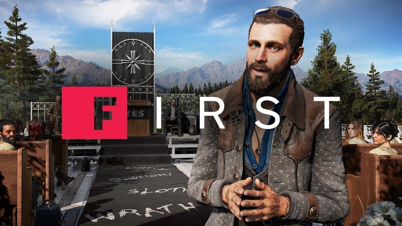Far Cry 5 Why John Seed Is Your Charmingly Deadly Enemy Ign First Far Cry 5 Crying John