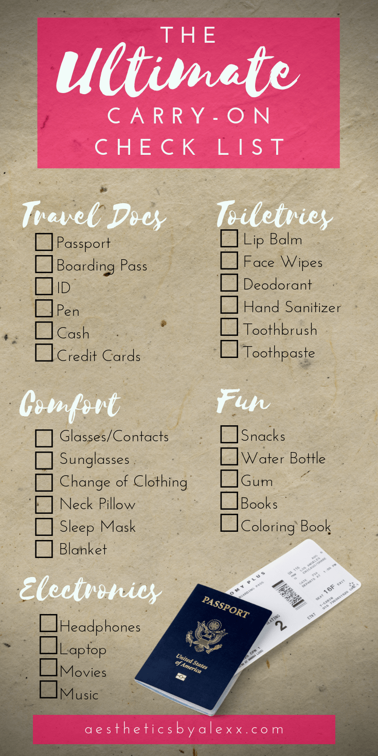 The Ultimate Carry-On Packing List