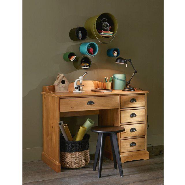 Bureau Pin Massif Finition Ciree Authentic Style La Redoute Interieurs Mobilier De Salon Bureau Meuble Bureau