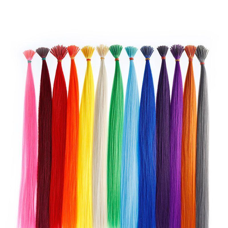 Lot 50100pcs I Tip Synthetic Hair Extensions 18 Fiber Cosplay