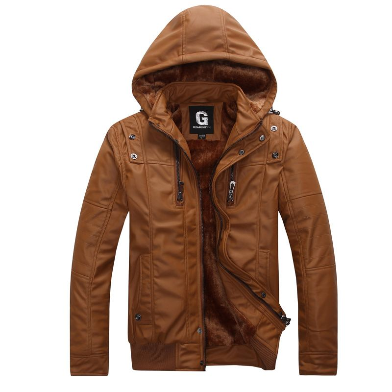 Cognac leather jacket/hoodie. Love.