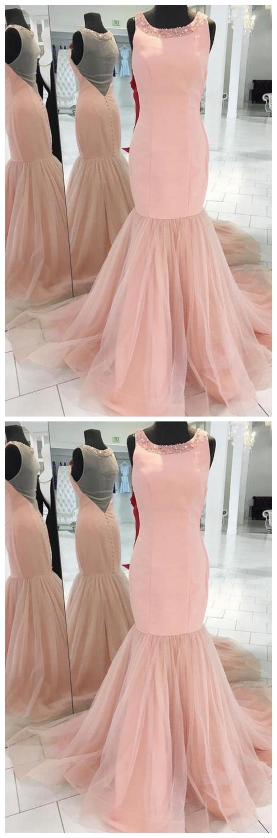 Prom Dresses,Mermaid Evening Dress,Modest Prom Dress