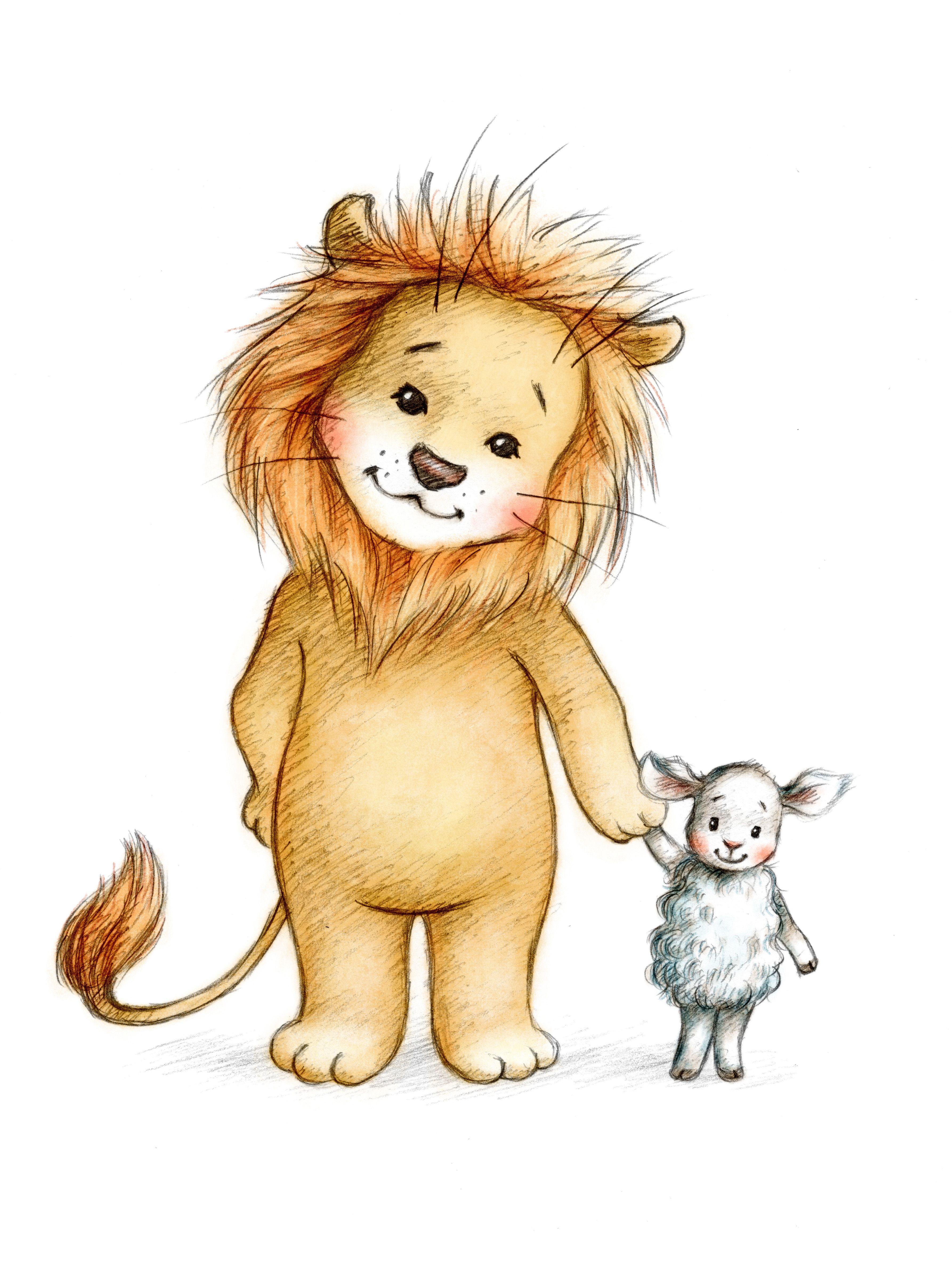 менее, милые картинки льва рисунки погода