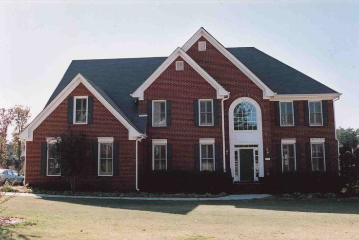 Brick roof shutter color for the home pinterest Black brick homes