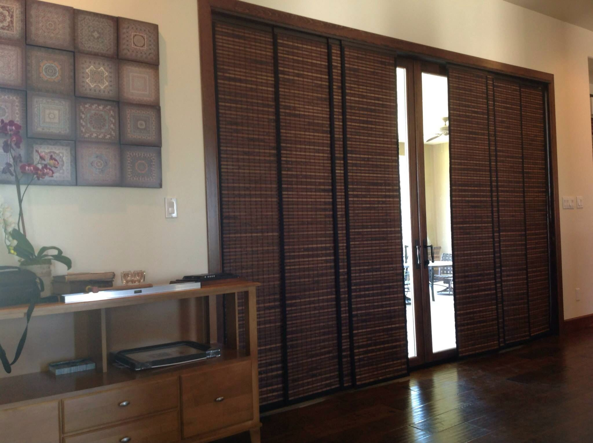 Woven Wood Panel Track That Splits In The Center Budget