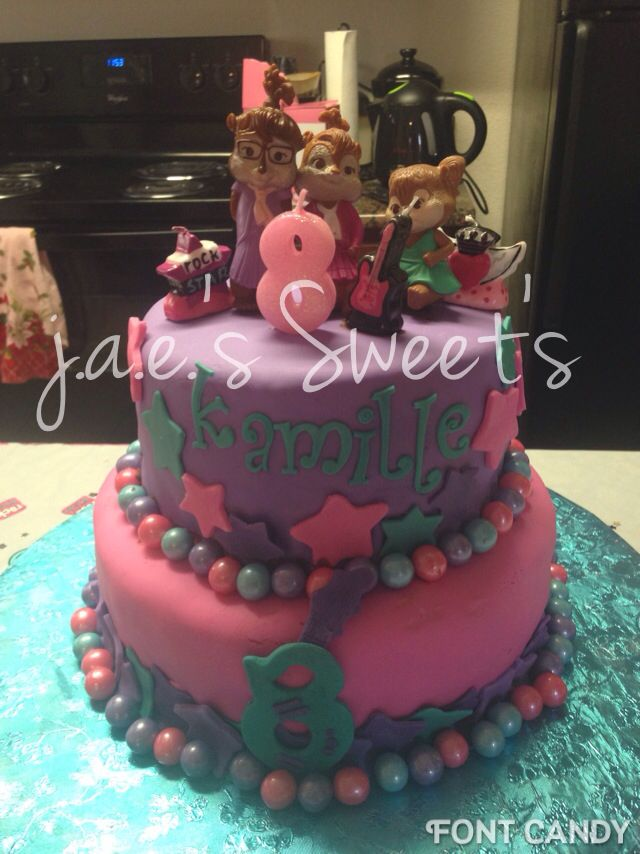 Incredible Chipettes Cake With Images Cake Second Birthday Ideas Funny Birthday Cards Online Alyptdamsfinfo