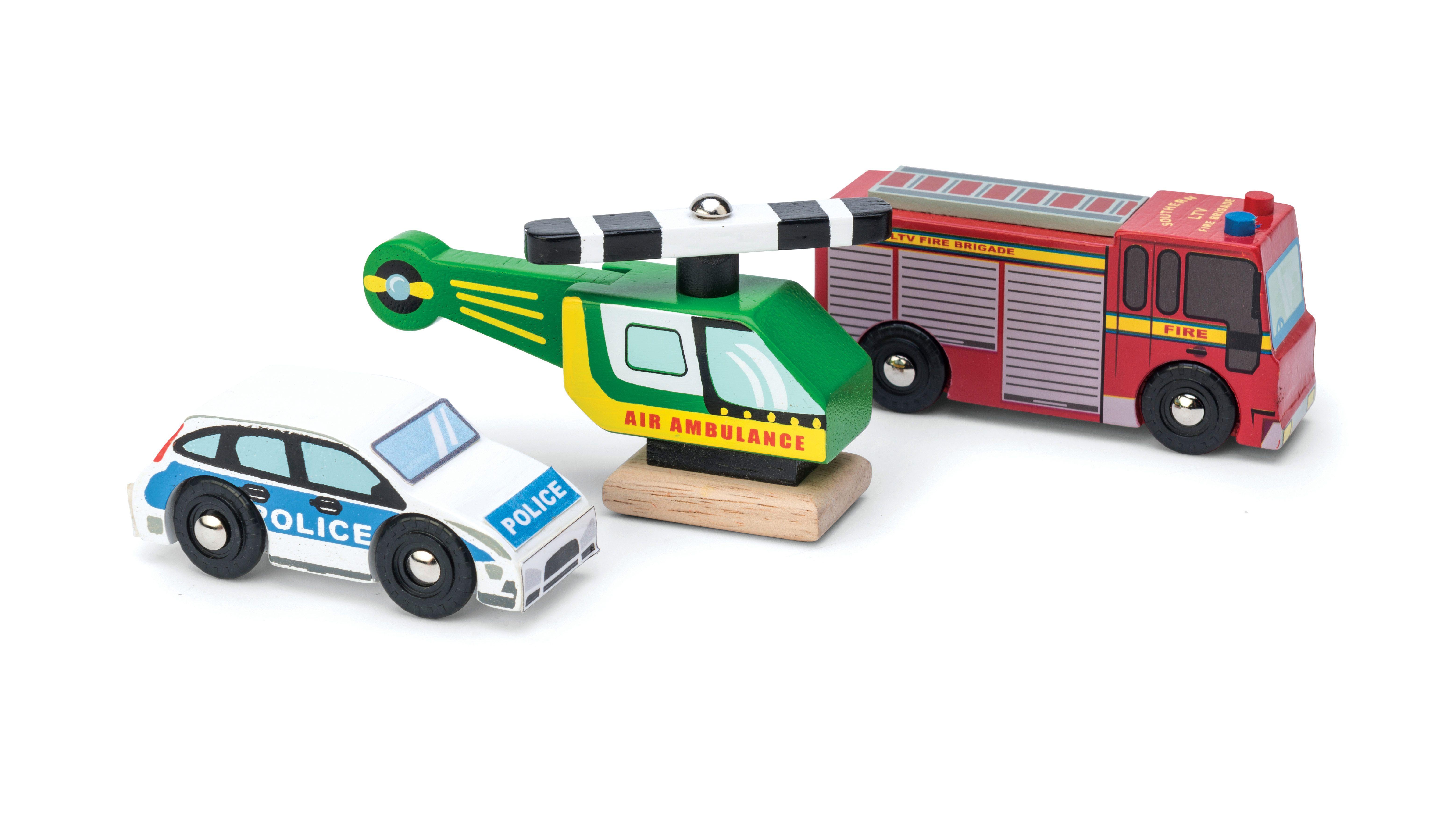 Emergency Vehicle Set | Emergency vehicles, Toys, Toddler gifts