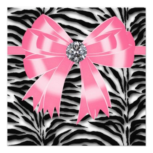 Pink black pink zebra party invitation template pink zebra party pink black pink zebra party invitation template stopboris Images