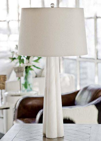 Regina Andrew Lighting Large Alabaster Quatrefoil Table Lamp