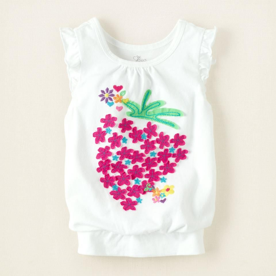 Embroidered Fruit Top White Cute Clothes Singapore The Tops