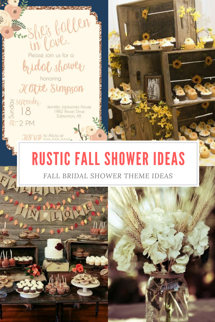 Top 6 fall bridal shower themes Bridal shower rustic