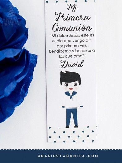 imprimible - INVITACIÓN - PRIMERA COMUNIÓN - NIÑO MARINERO ...