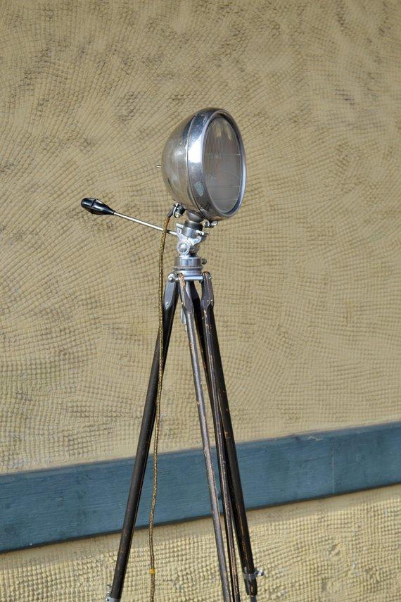 Tripod Floor Lamp Spotlight Lamp Rat Rod Light Ford Lamp Etsy